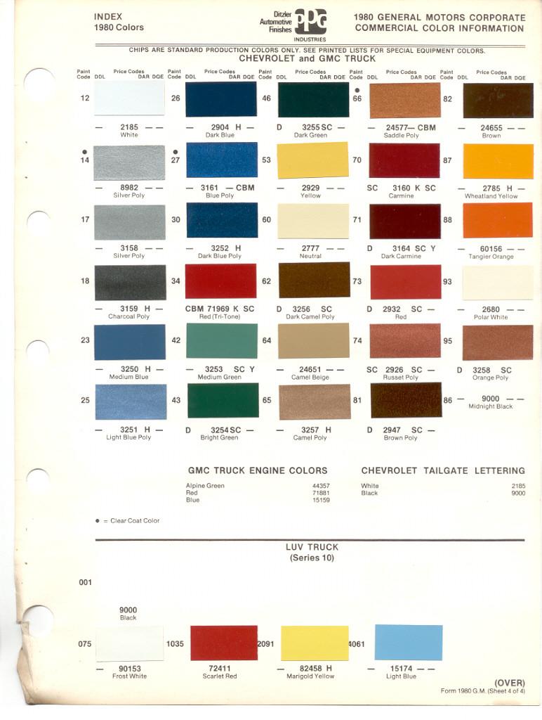 1946 gmc truck colors