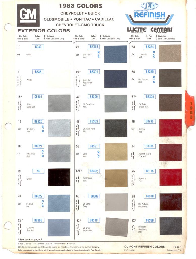 2014 chevy paint autos weblog for Paint color chips