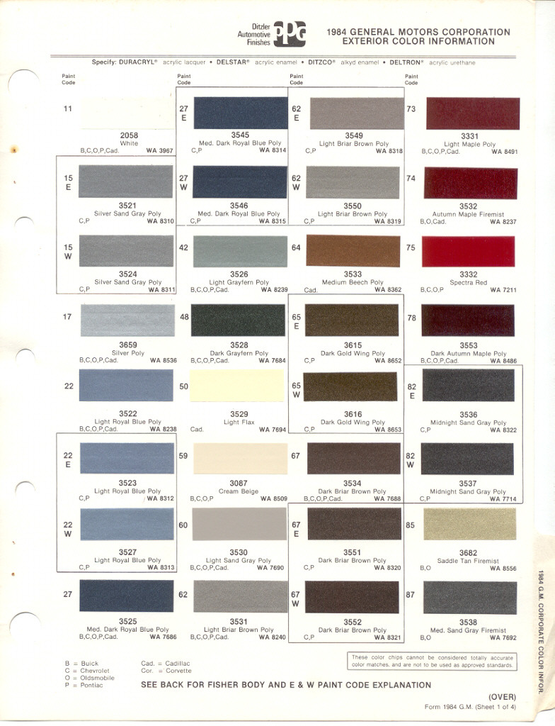 Ppg To Dupont Paint Code