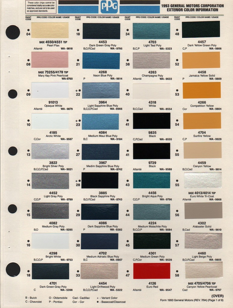 Napa Auto Paint Color Chart >> PPG Blue Paint Color Chart - Bing images