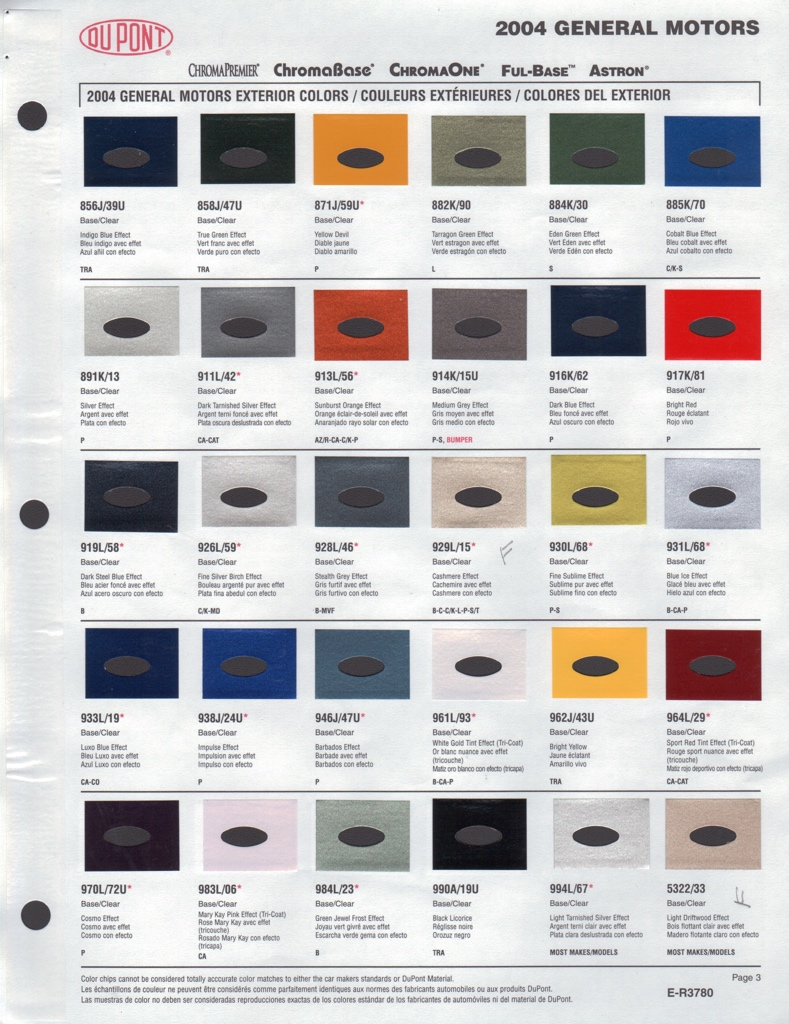 Dupont paint 28 images dupont aircraft paint color chart code chart dupont paint paint chips 2004 gm astro nvjuhfo Choice Image