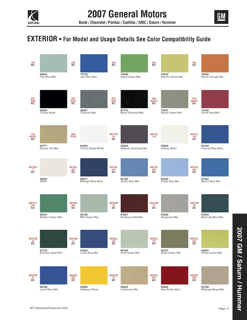 2014 Gm Truck Paint Codes Html Autos Post