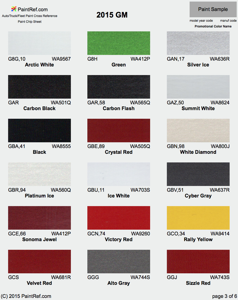2015 Chevy Gmc Truck Paint Colors | Autos Post