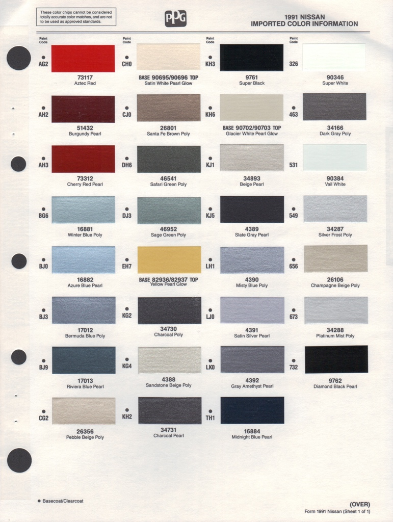 Paint chips 1991 nissan 240sx nvjuhfo Choice Image