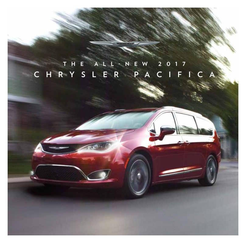 Chrysler 2017 Pacifica Sales Brochure