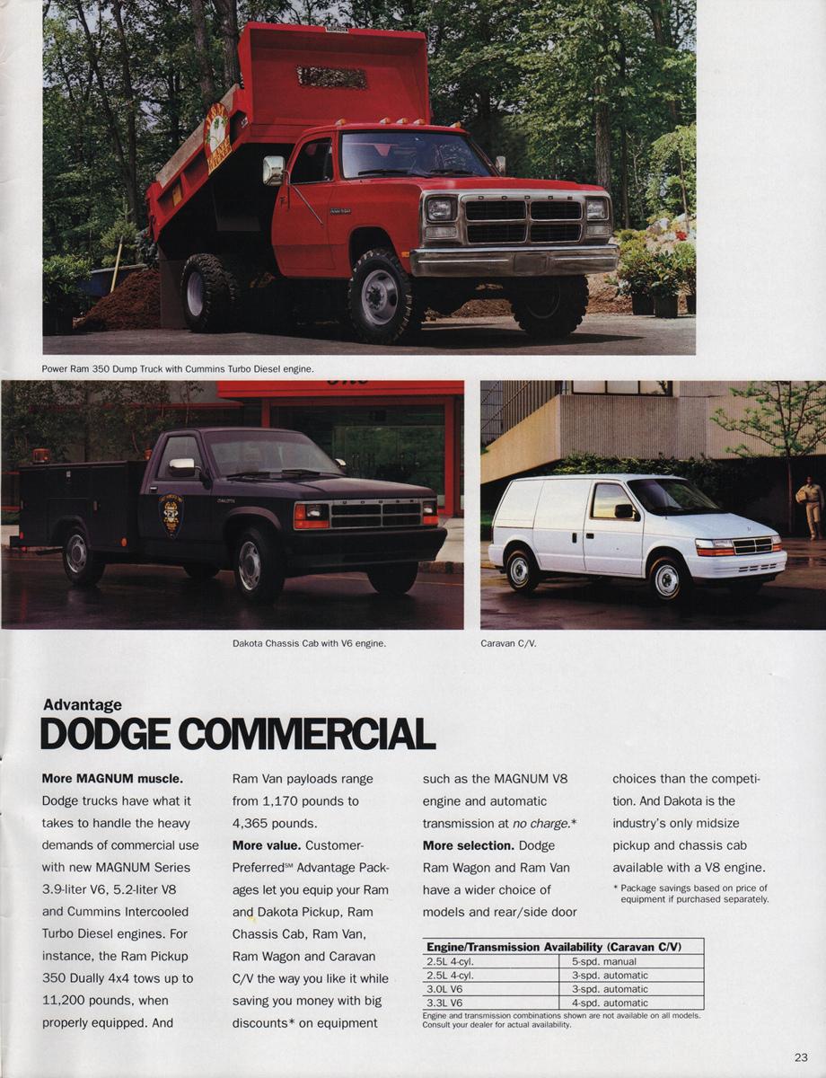 Dodge on 1989 Jeep Wrangler Sales Brochure