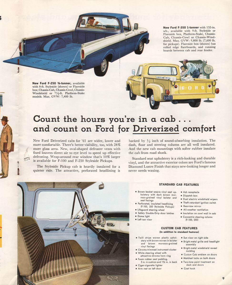 1961 Pickup Ford Truck Sales Brochure F 250 4x4 For Sale Company Marks Emblems And Designs Are Trademarks Or Service Of Please Respect The Time It Took To Acquire These Brochures