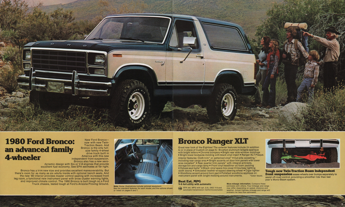 1980 bronco ford truck sales brochure rh paintref com Ford Bronco Ranger XLT Ford Bronco Ranger XLT