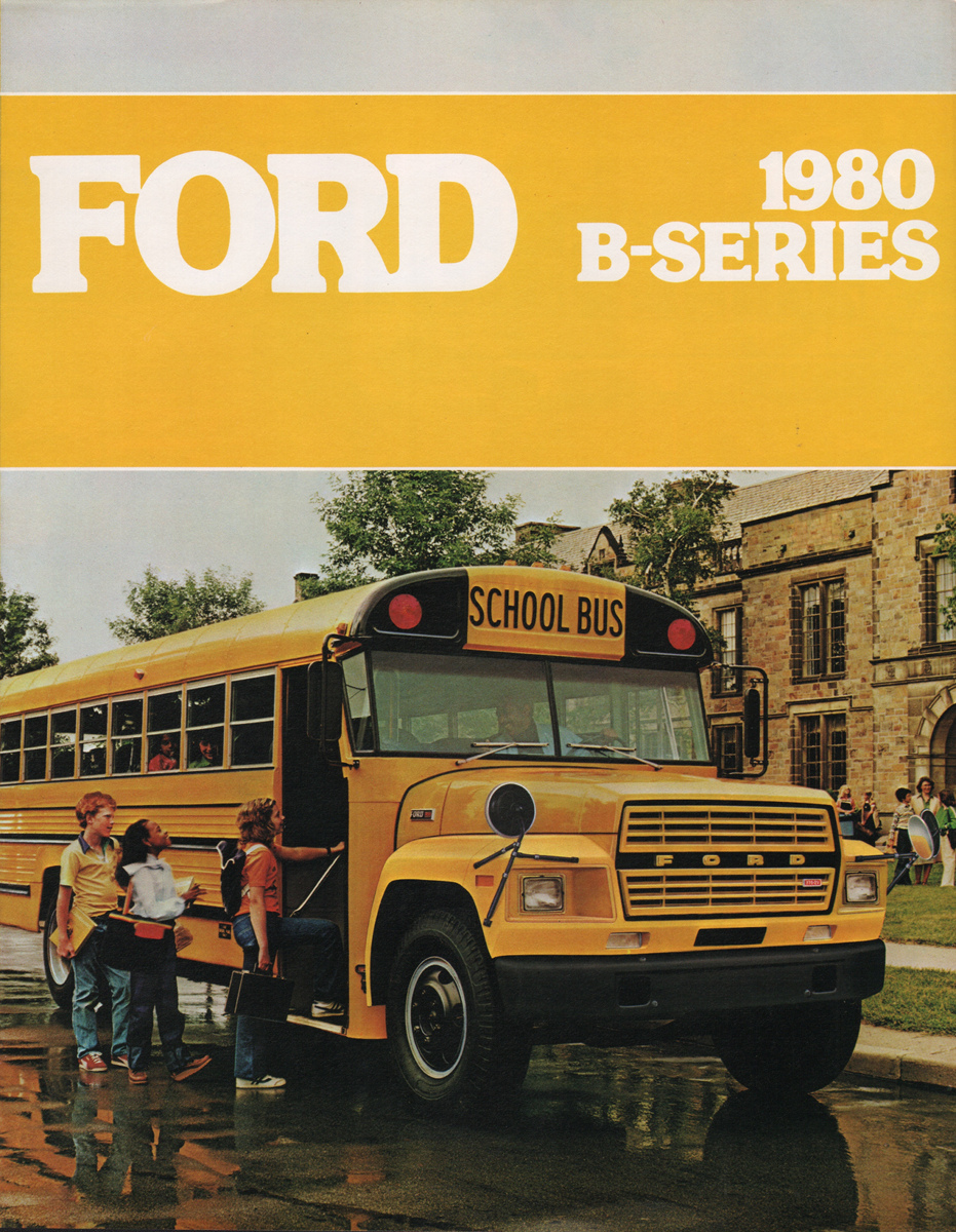 1980 School Bus Ford Truck Sales Brochure Econoline Cargo Van Company Marks Emblems And Designs Are Trademarks Or Service Of Please Respect The Time It Took To Acquire These Brochures