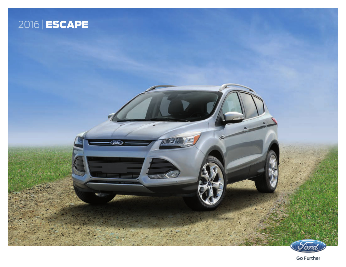 ford 2016 escape sales brochure. Black Bedroom Furniture Sets. Home Design Ideas