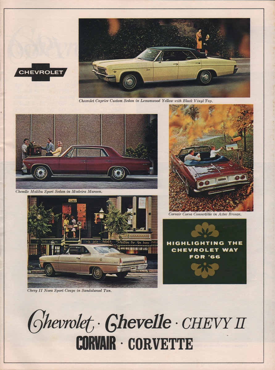 Gm 1966 Chevrolet Sales Brochure Caprice Clic