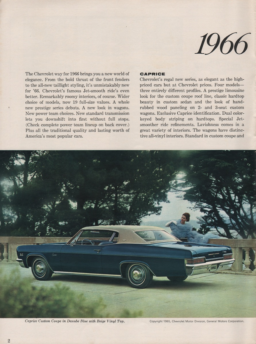Gm 1966 Chevrolet Sales Brochure Chevy Caprice Wagon Brochures Are Presented For Research Use Only Company Marks Emblems And Designs Trademarks Or Service Of