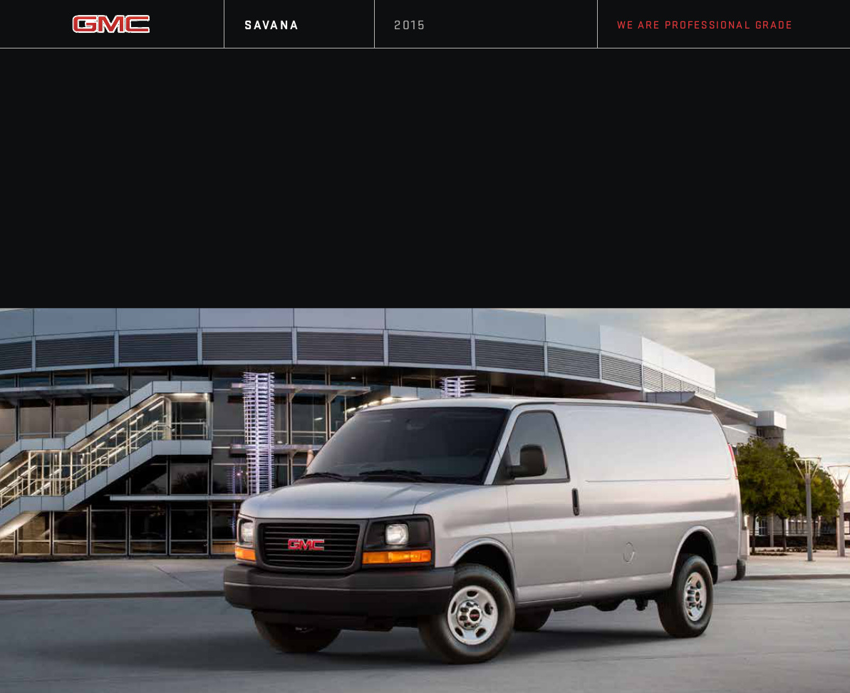 GM 2015 GMC Savana Sales Brochure