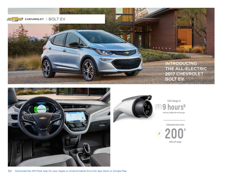 GM 2017 Chevrolet Bolt Sales Brochure