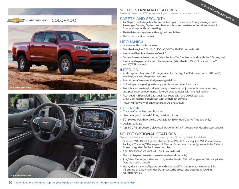 GM 2017 Chevrolet Colorado Sales Brochure