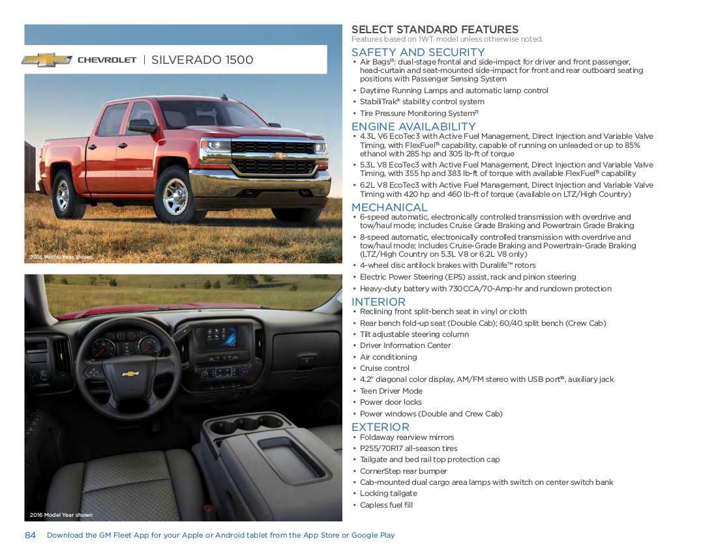 GM 2017 Chevrolet Silverado Sales Brochure
