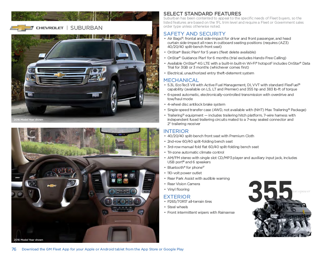 GM 2017 Chevrolet Suburban Sales Brochure