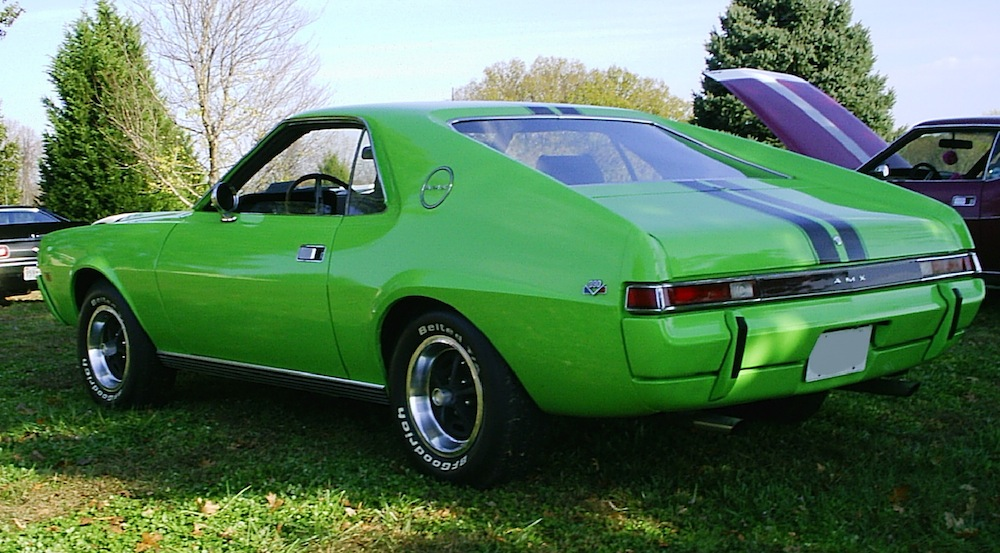 big bad green 1969 amc amx - paint cross reference