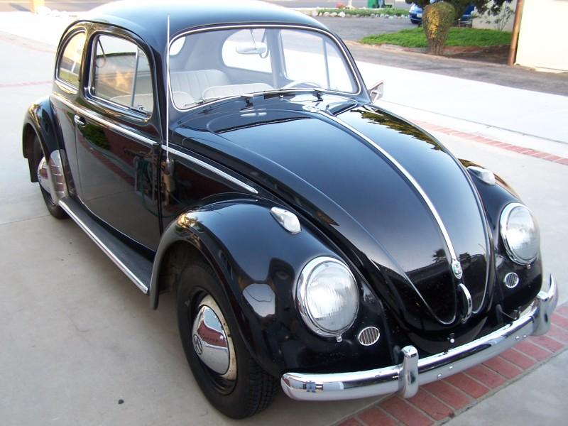 Black 1958 Volkswagen Beetle