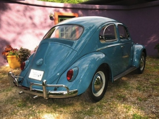 Example Of Gulf Blue Paint On A 1962 Volkswagen Beetle