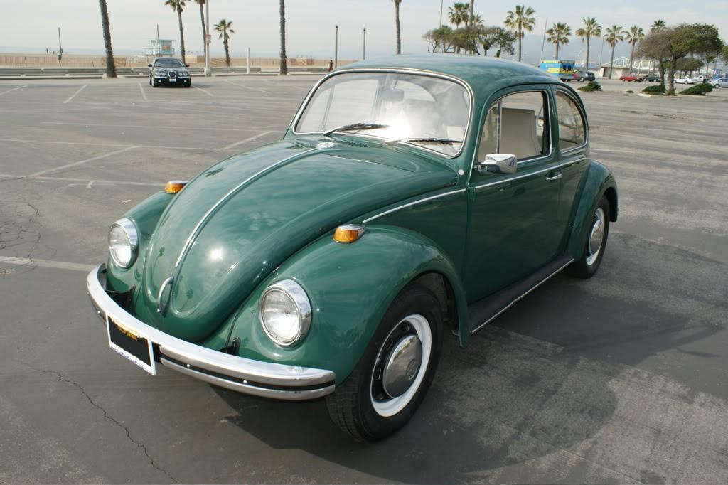 Example Of Delta Green Paint On A 1968 Volkswagen Beetle