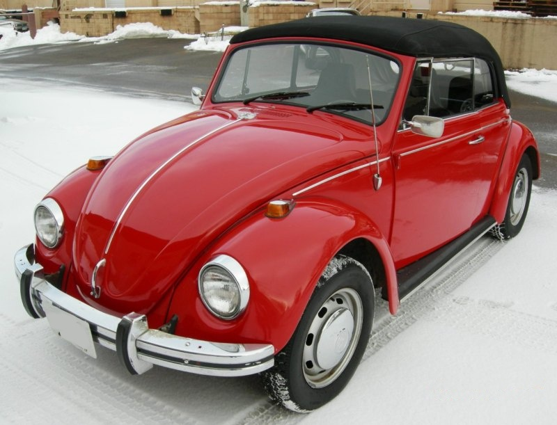 Example Of Poppy Red Paint On A 1969 Volkswagen Beetle