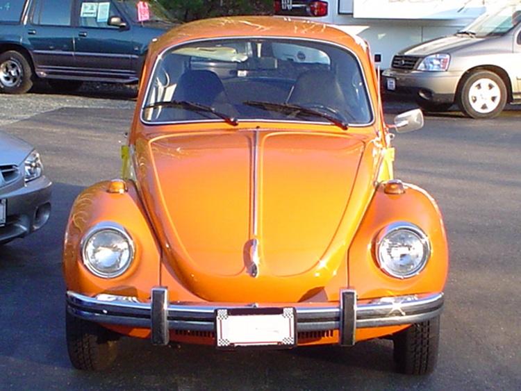 Brilliant Orange 1973 Volkswagen Beetle