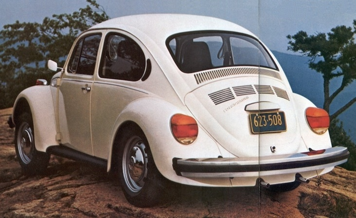 Atlas White 1974 Volkswagen Beetle