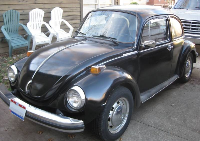 Black 1974 Volkswagen Beetle 
