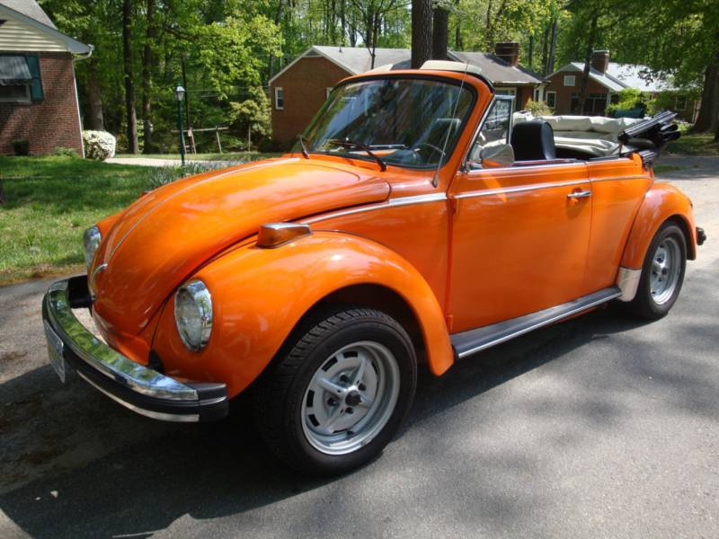 Nepal Orange 1975 Volkswagen Beetle