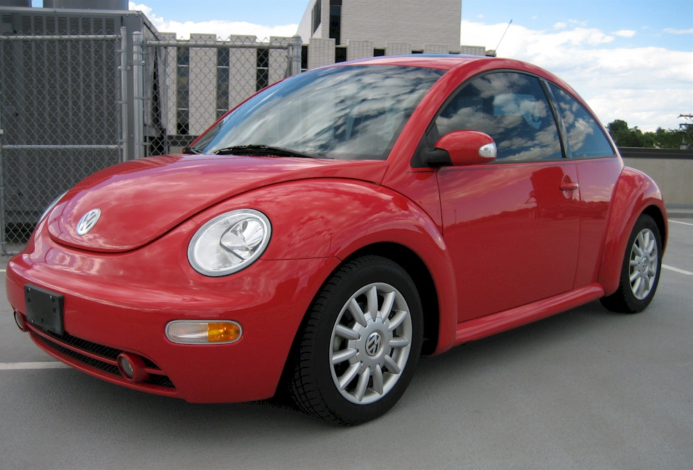 Red 2004 Volkswagen Beetle
