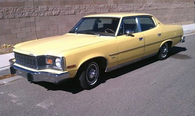 Sunshine Yellow 1976 AMC  Brougham Matador 360