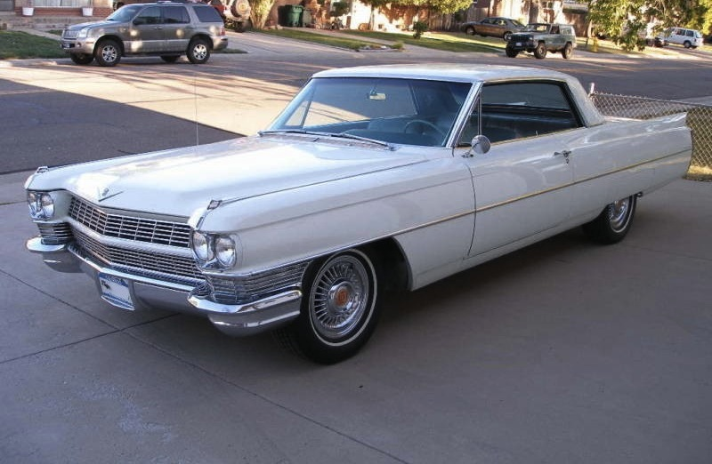 Example Of Aspen White Paint On A Gm 1964 Cadillac Coupe Deville