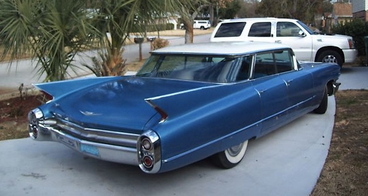 Hampton Blue 1960 Cadillac Series 62 Paint Cross Reference
