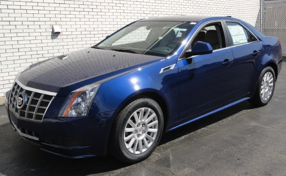 Cadillac CTS car - Color: Blue  // Description: classy