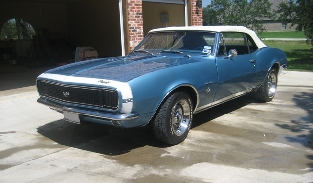 Example Of Nantucket Blue Paint On A Gm 1967 Chevrolet Camaro