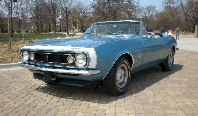 Example Of Marina Blue Paint On A Gm 1967 Chevrolet Camaro