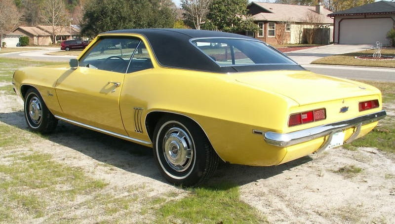 Daytona Yellow 1969 GM Camaro