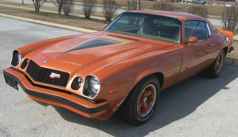Orange 1977 GM Chevrolet Camaro