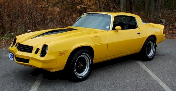 Bright Yellow 1981 GM Chevrolet Camaro