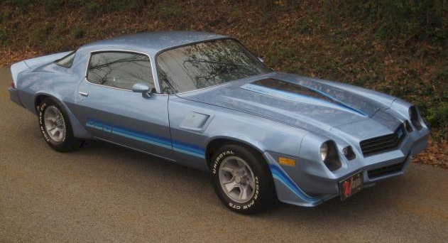 Light blue 1981 camaro paint cross reference example of light blue paint on a gm 1981 chevrolet camaro z28 coupe aloadofball Image collections