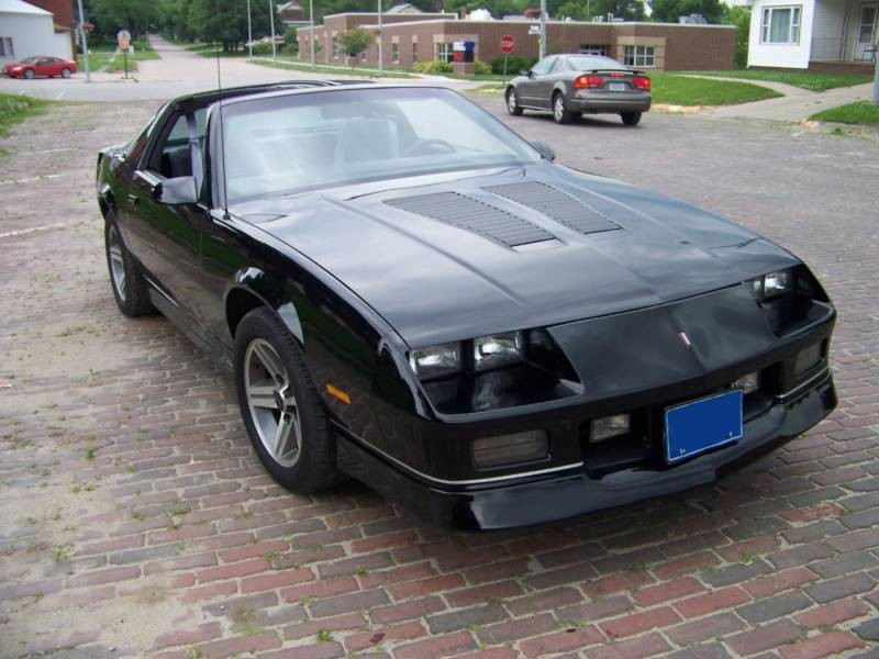 Black 1985 GM Camaro 