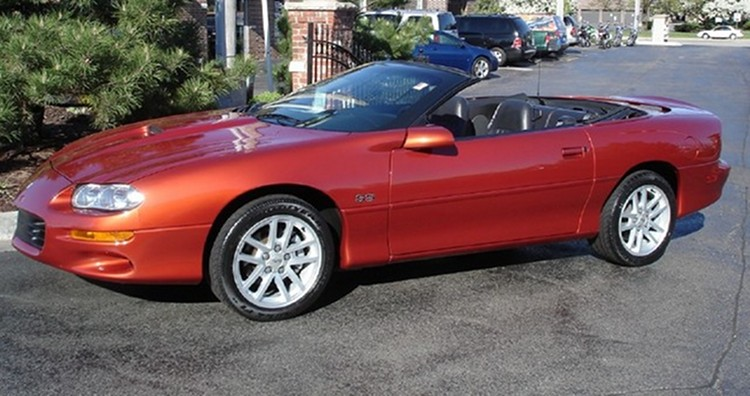 Sunset Orange 2001 GM Chevrolet Camaro