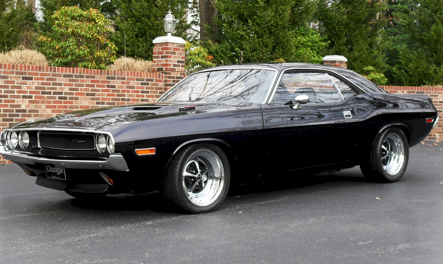 Black 1970 Challenger Paint Cross Reference