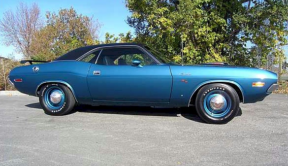 Dark Blue 1970 Chrysler Challenger R/T