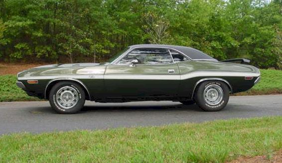 Dark Green 1971 Chrysler Dodge Challenger Paint Cross Reference