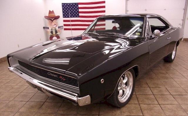 Black 1968 chrysler Dodge charger R/T
