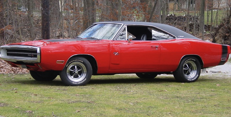 Bright Red 1970 Chrysler Dodge Charger R/T 440