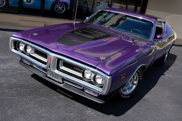 Example Of Plum Crazy Paint On A Chrysler 1971 Dodge Charger