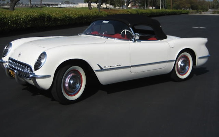 Polo White 1953 GM Chevrolet Corvette